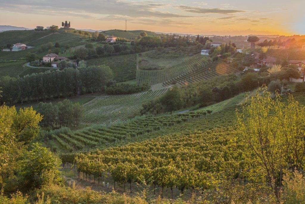 sfeer zonsondergang Nizza bricco